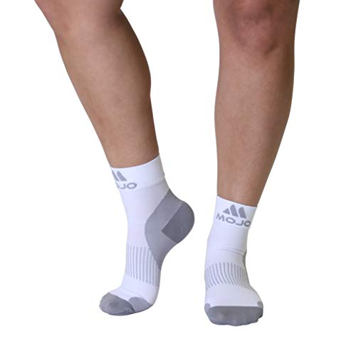 Plantar Fasciitis Sock - Support Ankle Compression Sleeve Socks - Reading Socks - Planter Sleeve Socks - 1 Pair Unisex Heel Pain Arch Support/Ankle Sock (Small, White Closed Toe)