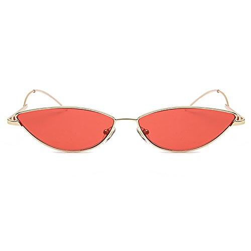 Frame de Gafas Ojo transparentes de sol Para Slender de sol gato unisex INS vintage Rojo Gafas Small ovaladas Steampunk Gafas UYOFBqw