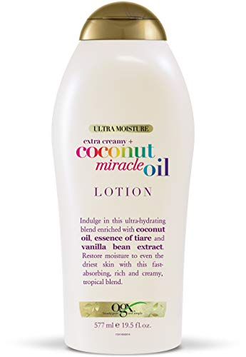 OGX Extra Creamy + Coconut Miracle Oil Ultra Moisture Lotion, 19.5 Fl Oz (Pack of 1)