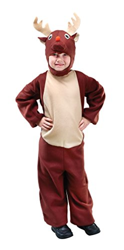 Bristol Novelty CC610 Reindeer Costume, Beige, Medium, Approx Age 5 - 7 Years, Reindeer (M)