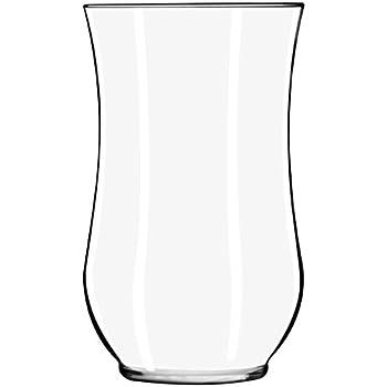 Amazon Com Libbey Angela Hurricane Vase Clear Home Amp Kitchen