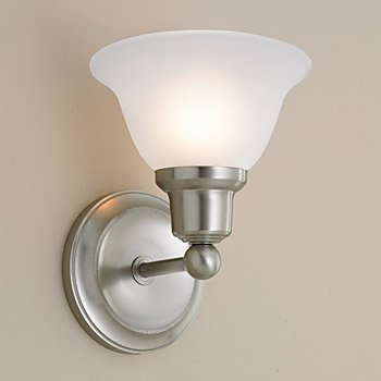 Norwell Lighting 8951-PN-FL Elizabeth - One Light Wall Sconce, Glass Options: Flared, Choose Finish: PN: Polished (Norwell Nickel Sconce)