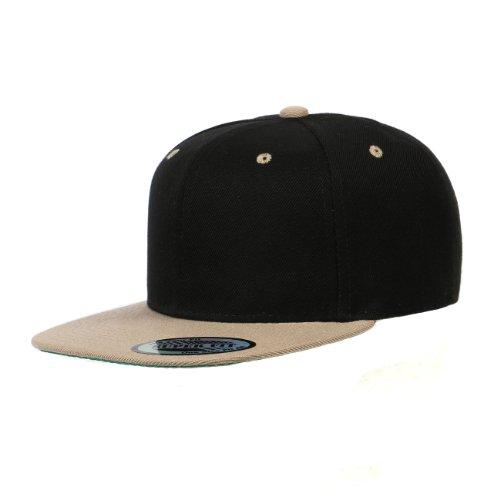 Cap911 Blank Adjustable Flat Bill Plain Snapback Hats Caps (All Colors) (One Size, ()
