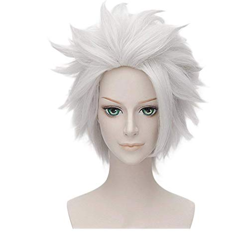 Ursula Wig | Qaccf Anime Short Layered Halloween Party White Grey Hair Halloween Wig]()