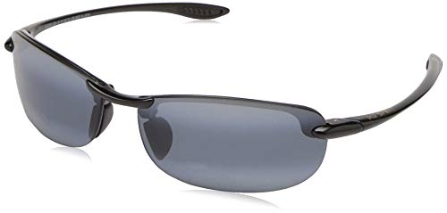 Maui Jim Makaha Reader G805-0220 | Polarized Gloss Black Rimless Frame Sunglasses, Neutral Grey Lenses, with with Patented PolarizedPlus2 Lens Technology ()