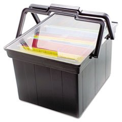 File Portable Companion Advantus - Advantus TLF2B Companion Portable File Storage Box, Legal/Letter, Plastic, Black