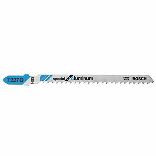 Bosch T227D 5-Piece 4 In. 8 TPI Special for Aluminum T-Shank Jig Saw Blades