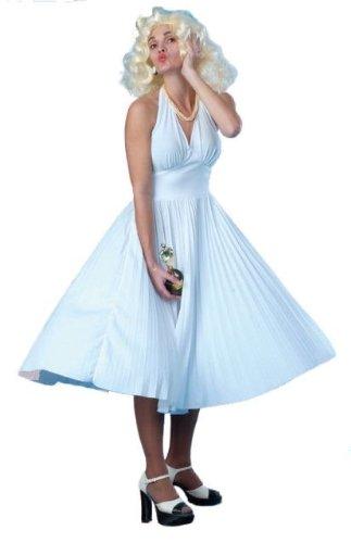 Marilyn Monroe White Fancy Dress Costume Size US 8-10 (Marilyn Monroe Fancy Dress Size 8)