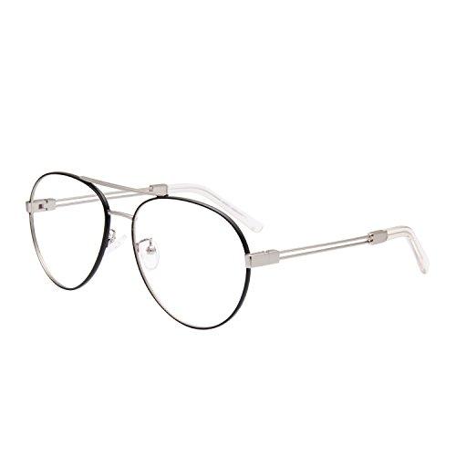 Jardin d'amour Designer Womens Mens Oversized Aviator Optical Frames Metal Frame Fashion Eyeglasses Non Prescription JA5110 - The Free Aviator Online