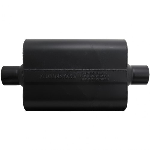 Flowmaster Super 44 Delta Flow Muffler (Flowmaster 942545 Super 44 Muffler - 2.50 Center IN / 2.50 Center OUT - Aggressive Sound)