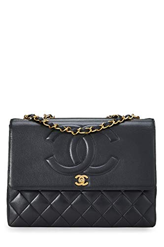 CHANEL Black Lambskin Timeless CC Flap Maxi - Chanel Flap Bag