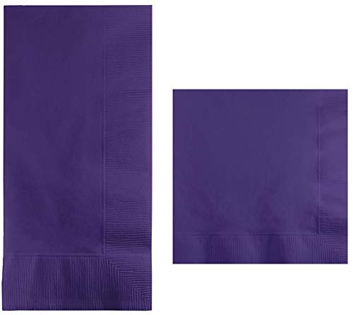 Purple Beverage Napkins (100-count) and Purple Dinner Napkins (100-count), and Comes with a Party Planning Checklist ()