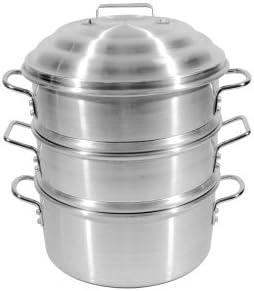 Town Food Service 14 Inch Aluminum Steamer Set