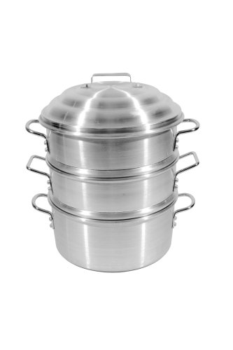(Town Food Service 14 Inch Aluminum Steamer Set)