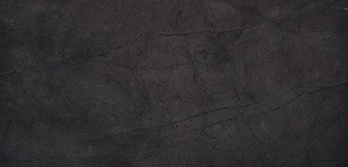 """Emser Tile F95CITABK1224 """"Citadel"""" Porcelain Tile, 12"""" x 24"""", Black"""