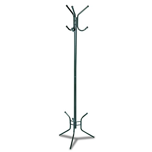 Safco Products 4215BL Costumer Coat Rack Tree with Three Ball-Tipped Double-Hooks, Black by Safco Products