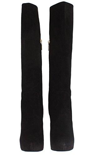 Boots Black amp; Dolce Gabbana Calf Suede Heels Mid 0Tw4wqZx