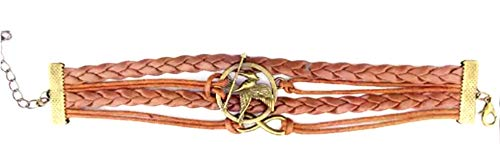 Fashion Vintage Hunger Games Birds Infinity Bracelet Leather (Games Hunger Bracelet)