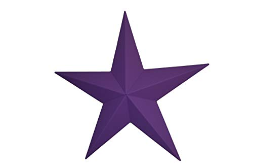 24 Inch Heavy Duty Metal Barn Star Painted Solid Purple - Tin Barn Amish
