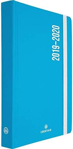 1 Agenda scolaireAlabama fluo 12 x 17 cm Bleu Un jour par page 2019//2020
