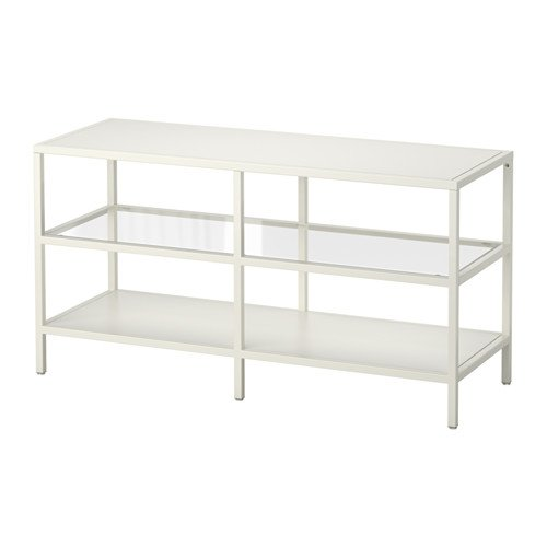 Vittsjo Tv Unit Tv Stand White Glass 39 3 8 Tv s for up to 4