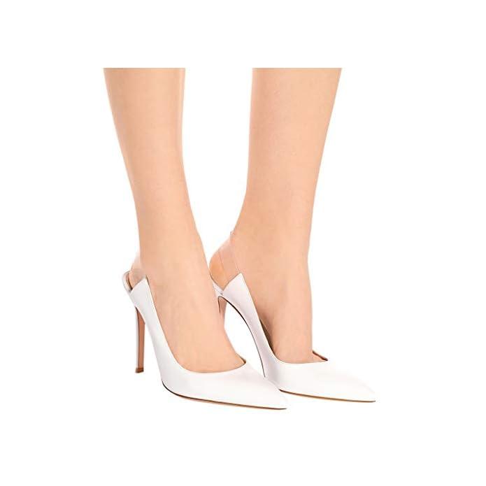 Lff ff Tacchi Alti Sandali Da Donna - Alti A Punta Scarpe Spillo Banchetto Moda Sposa altezza Tacco 8 Cm white 37