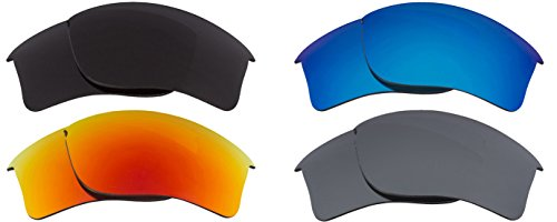 Best SEEK Replacement Lens Oakley FLAK JACKET XLJ Polarized Black Silver Red - Black Red Jacket Oakley Flak And