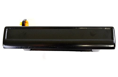 PT Auto Warehouse GM-3080S-FR - Outside Exterior Outer Door Handle, Smooth Black - Passenger Side (Camaro Outer Door)