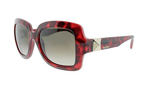 Valentino V714S-649 Ladies V714S Red Havana - Sunglasses Valentino Red