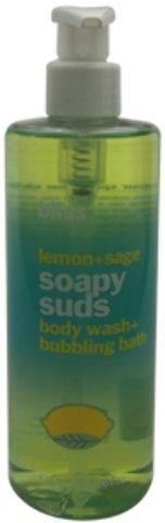 Bliss - Lemon + Sage Soapy Suds Body Wash + Bubbling Bath  1