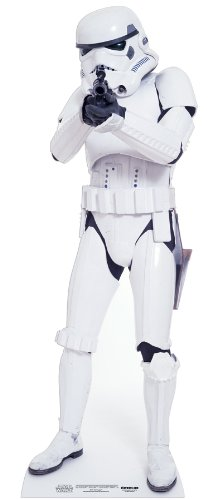 (Star Cutouts SC472 Stromtrooper Official Star Wars Party Collectors Item Lifesize Cardboard Cut Out of Stormtrooper 183cm Tall, Multicolour)
