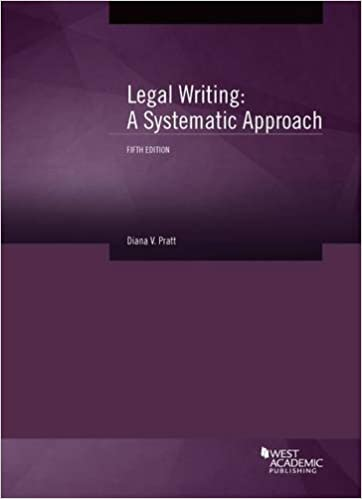 Book Legal Writing: A Systematic Approach (Coursebook)