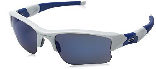 Oakley Men's Flak Jacket XLJ 03-941 Rectangular Sunglasses, Polished White/Ice Iridium, 63 mm (Oakley Sunglasses Flak Jacket)
