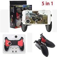 Vortex 5 in 1 Game-pad Set for PUBG Games- 1 Game Handle + 2 L/R Metal Trigger + 2 Thumb Control