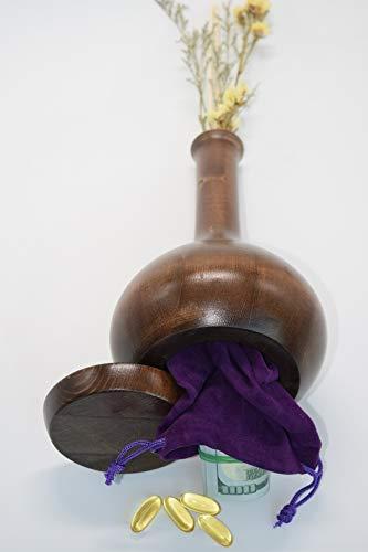 Diversion Safe - Stash Cans - Vase Can Safes, Secret Compartment for Money, Jewelry or Herbs, Hiding Containers- Safe Secret, Stash it to hide valuables. Free Flower & Pouch (Best Places To Hide Money)