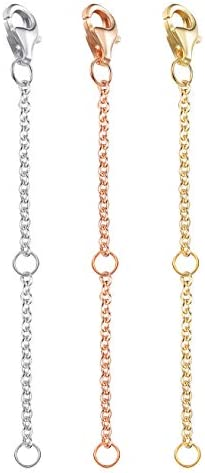 Everyday Elegance Stainless Steel Adjustable Necklace Chain Extender with Lobster Clasp 1 Extender