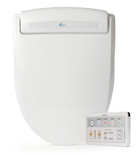 Bio Bidet Supreme BB-1000 White Bidet Toilet Seat Adjustable Warm Water, Self Cleaning, Wireless Remote Control, Posterior and Feminine Wash, Electric Bidet, Easy DIY Installation (Elongated)