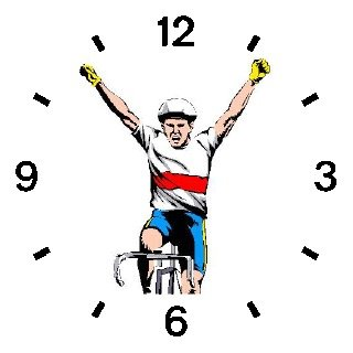 Cyclist Victorious Finish Cycling or Biking - WATCHBUDDY® DELUXE TWO-TONE THEME WATCH - Arabic Numbers - Blue Leather Strap-Women's Size-Small