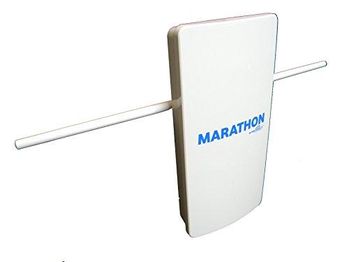Marathon HDTV Long Distance Amplified Indoor / Outdoor Digital TV Antenna. Long Range High Definition UHF