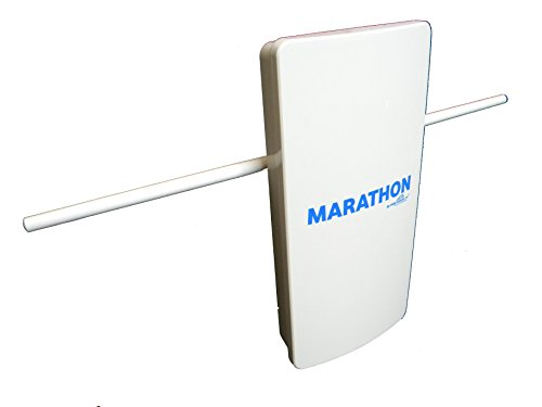 Marathon HDTV Long Distance Amplified Indoor / Outdoor Digital TV Antenna. Long Range High Definition UHF - VHF Reception and Top Rated Whole House Performance by Free Signal TV