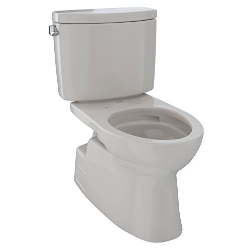 Toto CST474CEFGNo.12 Vespin II Two-Piece High-Efficiency Toilet, with SanaGloss, 1.28-GPF, Sedona Beige ()