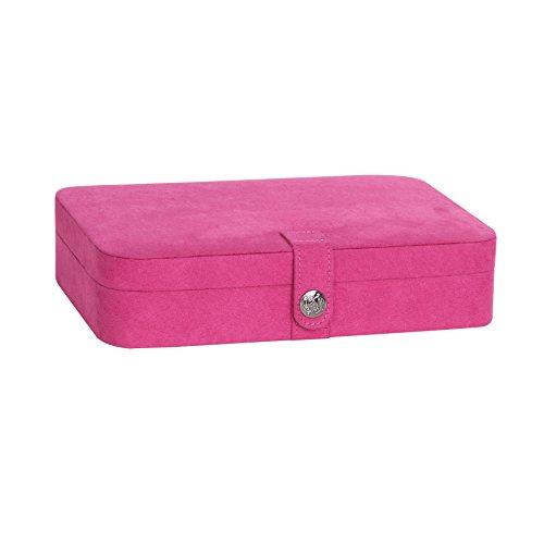 mele-co-celia-plush-fabric-jewelry-box-magenta