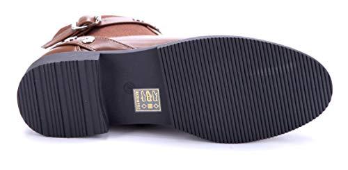 Blockabsatz Schuhe Damen cm Boots Zierkette 4 Klassische Stiefel Schuhtempel24 Camel Stiefeletten 1qwR1aZ