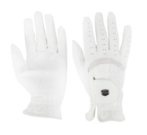 Dublin Dressage Riding Gloves White Ladies Medium