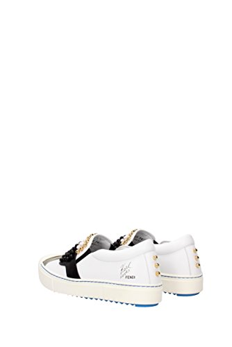 Bianco Mujer Zapatillas Blanco Para Por Fendi Casa Estar De xWBnwqSzR8