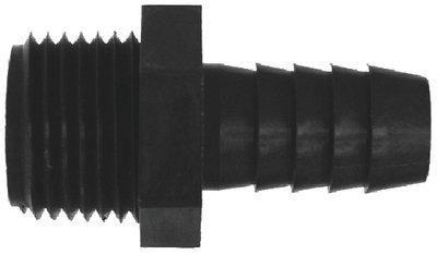 Midland 33-026W Nylon Barb Male Adapter, Nylon, 3/8 Hose Id x 3/4