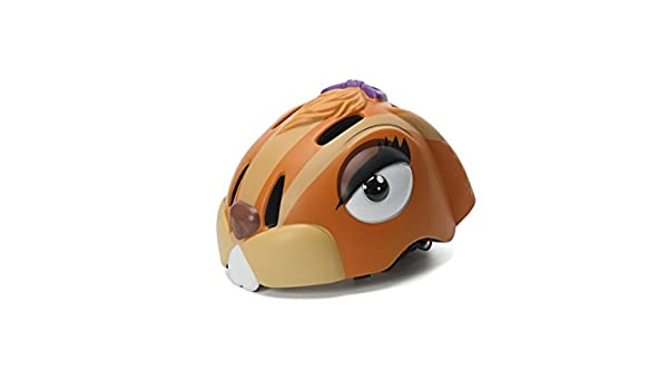 Blueqier Deportes Casco de Conejo Lindo para Niños Casco de Bicicleta Ajustable Casco de Seguridad de Bicicleta Desmontable (Marrón) Cascos de Ciclo: ...
