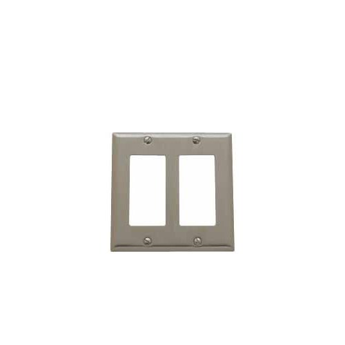 Baldwin 4741.150.CD Classic Square Beveled Edge Double GFCI Switch Plate,