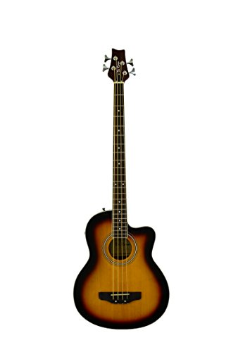 DeRosa GAB47 4 String Cutaway Acoustic-Electric Bass Guitar-TOBACCO SUNBURST ()