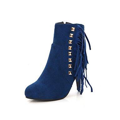 donna CH eu42 Finta blue Blu Rosso Nero pelle TOU 5 stiletto FormaleA 5 uk8 us10 Da cn43 Stivaletti BEgYEr